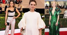 From bold brights to wonderful whites, we take a look at the biggest trends to grace the SAG awards red carpet last night...