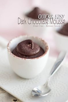 Quick Chocolate Mousse   by Sonia! The Healthy Foodie