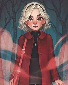 Sabrina the Teenage Witch/Chilling Adventures of Sabrina Cartoon Drawings, Cartoon Art, Cute Drawings, Fantasy Magic, Sabrina Spellman, Dibujos Cute, Witch Art, Archie Comics, Anime Comics
