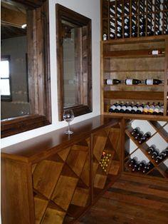 In order to fit underneath the windows, diamond storage bins were custom built at table top height. Coastal Custom Wine Cellars 26222 Paseo Toscana San Juan Capistrano, CA California Office: