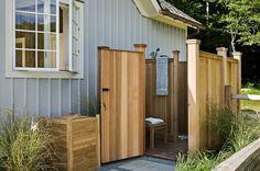 Pool Pavillion, outdoor shower - Crisp Architects