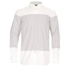 Paul Smith Shirts - White Horizontal Stripe Shirt