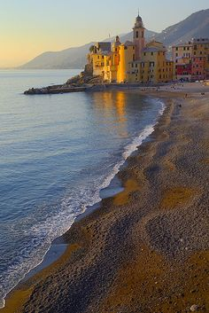 Camogli beach, Liguria, Italy. For amazing adventure holidays in Italy click here: http://www.awin1.com/awclick.php?mid=2651&id=119939 Book early for great deals!