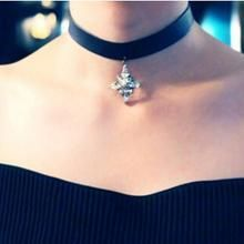 Ticoo - Crystal Choker Necklace