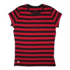 Red and black striped shirt $10.50