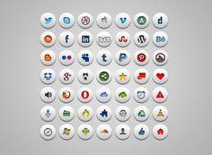 """""""meneer heeft u ook stickers?""""    Simple Social Icons - 365psd"""