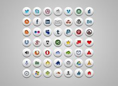 Simple Social Icons - 365psd