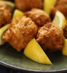 These homemade clam cakes are light, crisp, stuffed with clams, and never greasy. The perfect clam cake recipe! Clam Recipes, Fish Recipes, Seafood Recipes, Cooking Recipes, Asian Recipes, Recipies, Fish Dishes, Seafood Dishes, Fish And Seafood