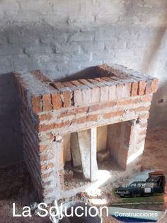 Construcci n de un hogar a le a hornos estufas chimeneas pinterest chiminea modern - Chimeneas de barro ...