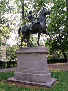 Wrocław - Pomnik Amora na Pegazie (Amor auf dem Pegasus reitend) na Promenadzie…