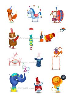 Circus by Marija Smirnovaite, via Behance