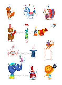 Circus by Marija Smirnovaite, via Behance