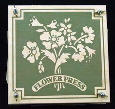 Vintage Wooden Flower Press John Adams Toys Made in England by RetroCentsStudio…