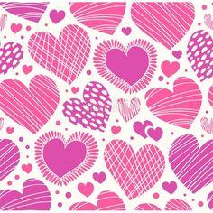 Rose ornamental romántica con corazones sin fondo lindo adornado textura de la tela con muchos detalles - All4prints.com