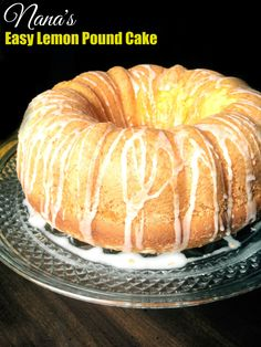 Nana's Easy Lemon Pound Cake | Aunt Bee's Recipes... sounds just like the pudding cakes they sold at one of our old town stores! 4 ingredients! this would be awesome to take for get-togethers!