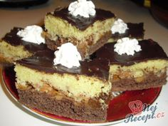 Jablečné řezy FANTAZIE Czech Recipes, Ethnic Recipes, Apple Dessert Recipes, Eclairs, Sweet Cakes, Graham Crackers, No Bake Cake, Amazing Cakes, Nutella
