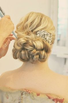 Wedding Hair Updo. And I love this hair piece more than a tiara!