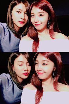 Eunji and hayoung South Korean Girls, Korean Girl Groups, Pink Panda, Eun Ji, Kpop, Cube Entertainment, Girl Crushes, Singer, Female