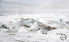 """The Unbelievable Challenge winners reimagine Santa Claus' logistics center Runner-up: """"S.XL LOGISTIC"""" by Nuttapol Techopitch and Satavee Kijsanayotin, Thailand Architecture Concept Diagram, Futuristic Architecture, Landscape Architecture, Architecture Design, Architecture Posters, Santa Claus House, Land Use, Zaha Hadid Architects, Conceptual Design"""