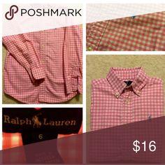 Ralph Lauren Oxford Shirt Like-new Ralph Lauren Button Up Shirt Size 6 Excellent condition- No signs of wear Ralph Lauren Shirts & Tops Button Down Shirts