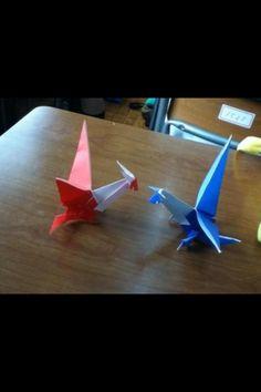 Origami Latias and Latios