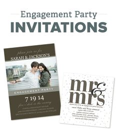 Custom Engagement Party Invitations #engagementinvites
