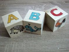 Wooden Alphabet Blocks - How to wood burn and paint Wooden Alphabet Blocks, Pyrography, Wood Burning, Youtube, Painting, Woodburning, Painting Art, Paintings, Youtubers