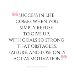 Success as a gift of obstacles in our lives
