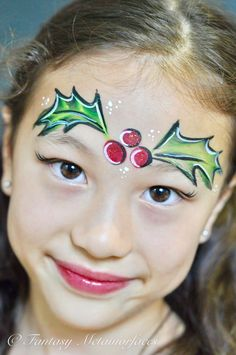 Christmas Holly Face Paint