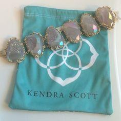 KENDRA SCOTT luxe bracelet **BRAND NEW** Kendra Scott Luxe stone nest Bobbie bracelet in iridescent drusy RETAIL $535 Kendra Scott Jewelry Bracelets