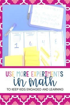 Keep kids engaged and learning by using experiments & demonstrations in MATH! Inquiry Based Learning, Tens And Ones, Number Sense, Problem Solving, Teacher, Classroom, Hands, Math, Class Room