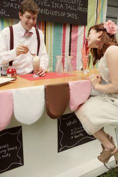 Instead of alochol, I want a retro milkshake bar at my wedding!!  said nobody EVER!!