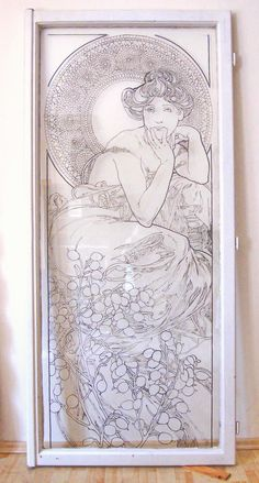 Aphonse Mucha: Topaz, kontura Hippy, Topaz, San Francisco, Frame, Glass, Painting, Home Decor, Homemade Home Decor, Drinkware