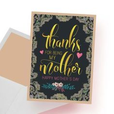 Printable Happy Mother's Day card Happy Mother S Day, Happy Mothers, Thankful, Printables, Cards, Print Templates, Maps, Playing Cards