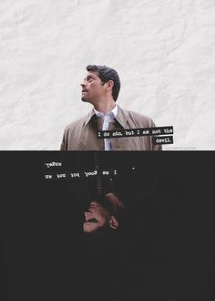 """ I am good, but not an angel. I do sin, but I am not the devil.""  Supernatural Graphic Edit//Wallpaper//Lockscreen Destiel"