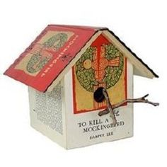 Old books as bird house
