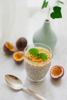 Chiapudding med kokos och passionsfrukt