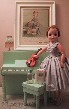 Madame Alexander Cissy doll Yardley ads 1950s