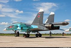 Front-line fighter – bomber - aircraft desig Airplane Fighter, Fighter Aircraft, Air Fighter, Fighter Jets, Su 34 Fullback, Luftwaffe, Russian Military Aircraft, Russian Fighter, Russian Air Force