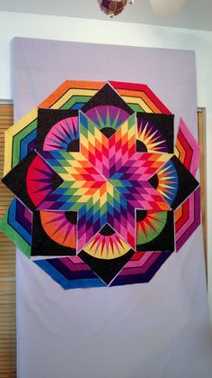 58 Ideas For Lone Star Quilting Fabrics Purple Quilts, Colorful Quilts, Lone Star Quilt, Star Quilts, Barn Quilt Designs, Quilting Designs, 3d Rangoli, Rangoli Designs, Geometric Quilt