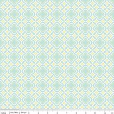 """Wallpaper in blue"" from the Kensington designer fabric collection by Emily Taylor for Riley Blake Designs."