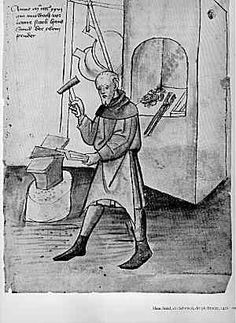 A 15th century German illustration from the Mendel Hausbuch showing only one set of bellows - The origin and use of bellows, especially in medieval Europe | My medieval foundry