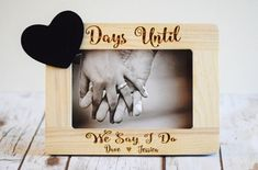 Engagement Gift Engagement Frame Engagement by CustomWoodWonders