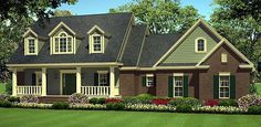 House Plan 55602 | Country   Farmhouse  Southern   Traditional    Plan with 1934 Sq. Ft., 3 Bedrooms, 2 Bathrooms, 2 Car