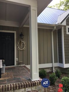 Building Porch Columns – Life with Neal & Suz Craftsman Bungalows, Outdoor Fireplace, Front Porch Posts, Porch, Porch Column Wraps, How To Build Porch Columns, Porch Remodel, Exterior Doors, Porch Supports