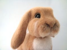 Needle felted bunny. Needle felted animal. Bunny by Juliwooldream