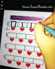 Rhythm Dictation iPad using Skitch
