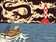 Tintin:  Hergé  http://g.courtial.free.fr/Tintin_fond_d_ecran_wallpaper.jpg