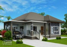 This elevated 3 bedroom house design has 2 toilet and bath having a floor area of 162 sq.m.. It can be built in a lot with at least 15 meters frontage width and 20 meters length.