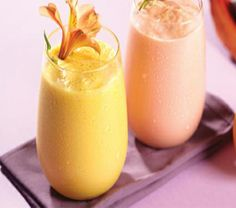 Licuado de mango con crema de coco